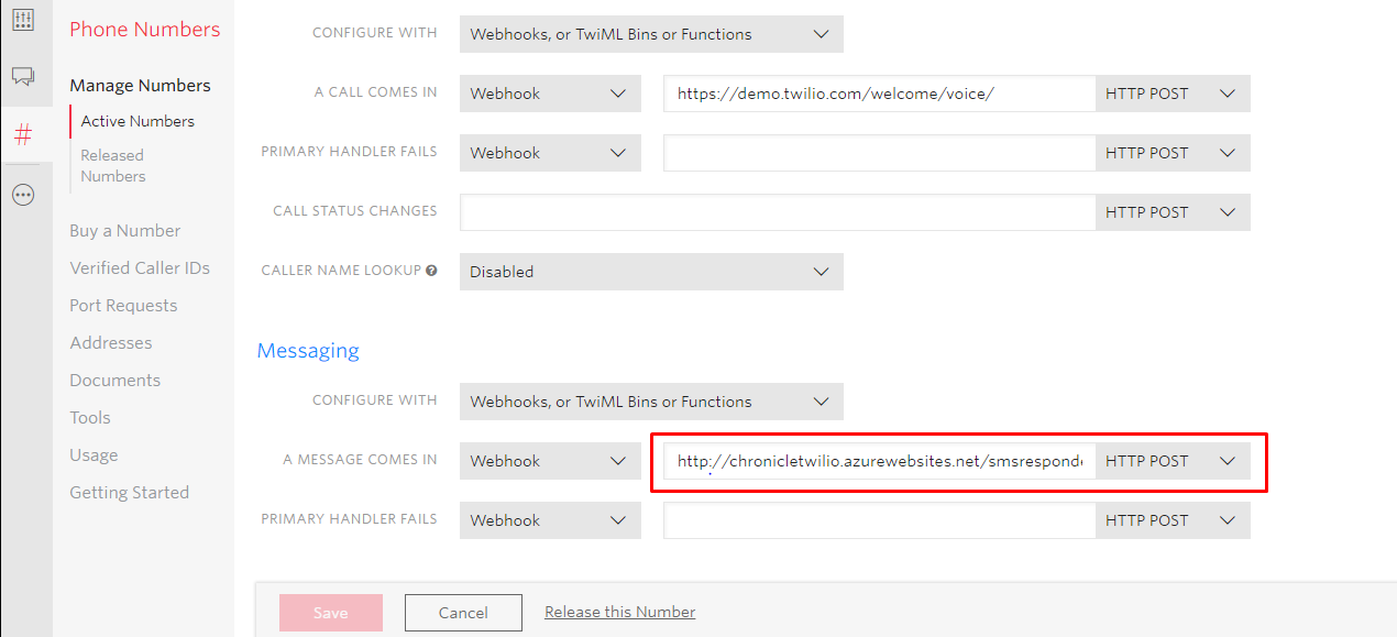 Setup Text Messaging - Twilio instructions – Chronicle Help Center