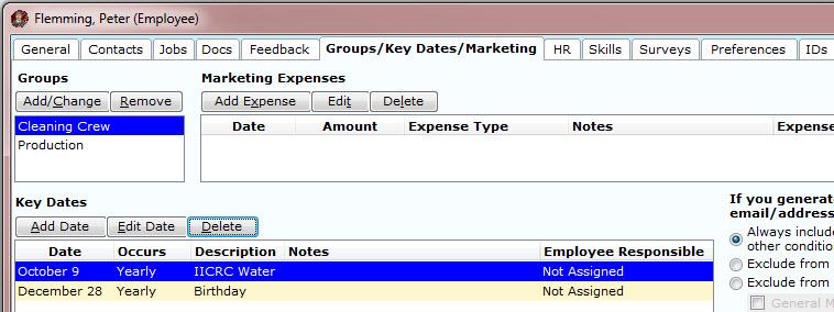 Groups/Key Dates/Marketing Tab – Chronicle Help Center